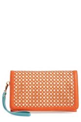 Big Buddha 'Dalton' Clutch Orange