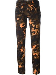 Versus Camouflage Print Cropped Jeans Multicolour
