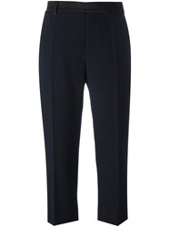 Maison Martin Margiela Cropped Tailored Trousers Blue