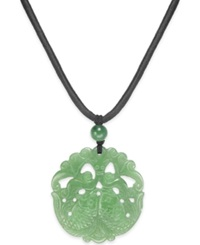 No Vendor Dyed Jade Double Fish Pendant Necklace 44Mm