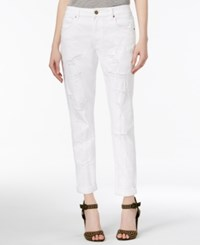 Rachel Roy Ripped Girlfriend Jeans Only At Macy's White