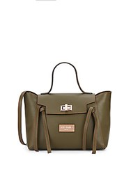 Valentino By Mario Valentino Camilla Leather Satchel Army Green