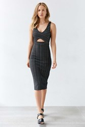 Ecote Domino Knit Jacquard Dress Black And White
