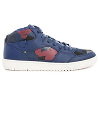 Lacoste Wytham Navy Two Tone Printed High Top Sneakers