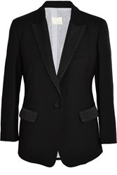 Band Of Outsiders Faille Trimmed Wool Pique Blazer