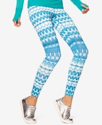 Hue Women's Ikat Active Leggings Turquoise