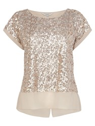 Coast Ruvern Sequin Top Taupe