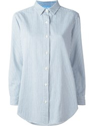 Mih Jeans Striped Loose Fit Shirt White