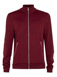 Topman Burgundy And Off White Track Top Red