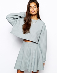 The Laden Showroom X Renee London Quilt Skater Skirt Grey