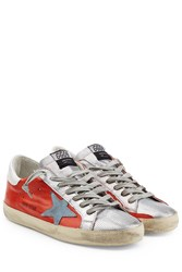 Golden Goose Super Star Leather Sneakers Red