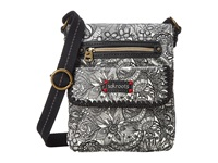 Sakroots Artist Circle Small Flap Messenger Black White Spirit Desert Messenger Bags