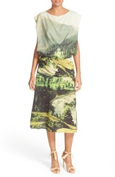 Tracy Reese Women's Draped Print Stretch Silk Dress