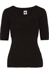 M Missoni Stretch Cloque Top Black