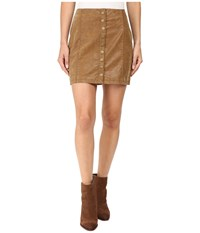 Free People Oh Snap Mini Vegan Suede Skirt Brown Women's Skirt