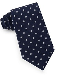 Lord And Taylor Floral Dot Tie Navy