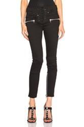 Unravel Lace Up Skinny Pants In Black