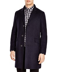 Theory Whyte Wool Cashmere Coat Navy