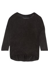 Raquel Allegra Tie Dyed Jersey Top Black