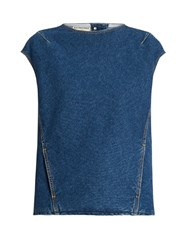 Balenciaga Crew Neck Denim Top