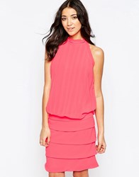 Traffic People Chiffon Bold Sweet Charity Dress With Halterneck Pink