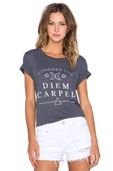 Local Celebrity Diem Carped Schiffer Tee Slate