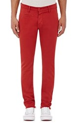 Barneys New York Men's Twill Chinos Red