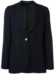 Paul Smith Tonal Check Blazer Blue