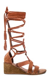 Free People Saltarello Mini Wedge Rust