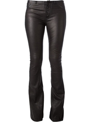 Hudson Skinny Flared Trousers Black