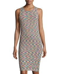 Romeo And Juliet Couture Sleeveless Textured Space Dyed Knit Dress Multicolor