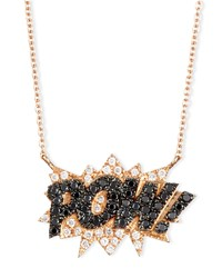 18K Rose Gold Pow Pop Art Pendant Necklace Diane Kordas Pink