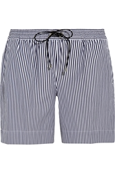 Victoria Beckham Striped Cotton Canvas Shorts
