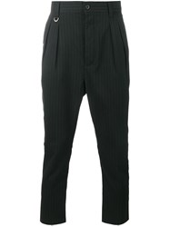 Uniform Experiment Pinstripe Trousers Black