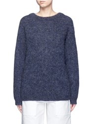 Acne Studios 'Dramatic' Oversize Mohair Blend Sweater Blue