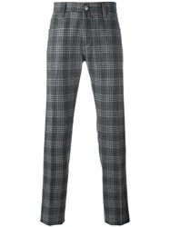 Jacob Cohen Checked Tailored Trousers Grey