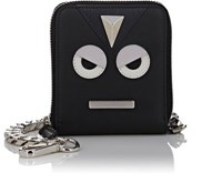 Fendi Men's Emoticon Chain Wallet Black