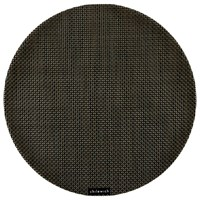 Chilewich Basketweave Round Placemat Chestnut
