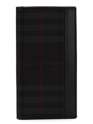 Burberry Horseferry Check Fold Over Wallet Black