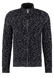 Schott Nyc Ship Cardigan Mix Navy Dark Blue