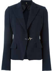Fay Buckle Detail Blazer Blue