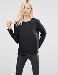 Y.A.S Canny Long Sleeve Top Black