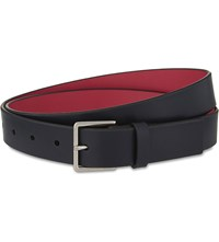 Paul Smith Accessories Contrast Lining Leather Belt Navy Pink