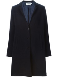 Barena Single Breasted Straight Fit Coat Blue