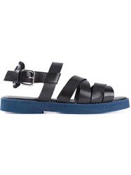 Markus Lupfer Flat Strappy Sandals Black