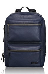 Men's Tumi 'Mission Bryant' Leather Backpack Blue Navy