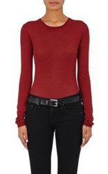 Barneys New York Women's Cashmere Silk Sweater Burgundy