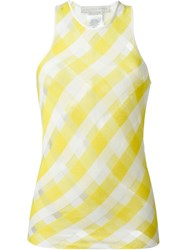Stella Mccartney 'Transparent Check' Top Yellow And Orange