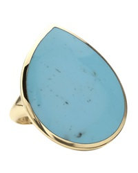 Ippolita 18K Teardrop Rock Candy Turquoise Ring Gold