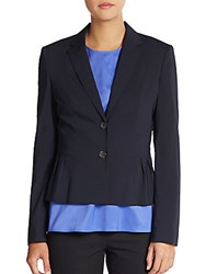 Hugo Boss Jorila Stretch Wool Blazer Black